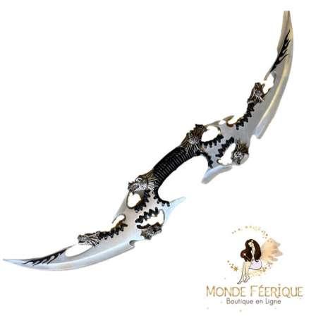 couteau double lame dragon dagues