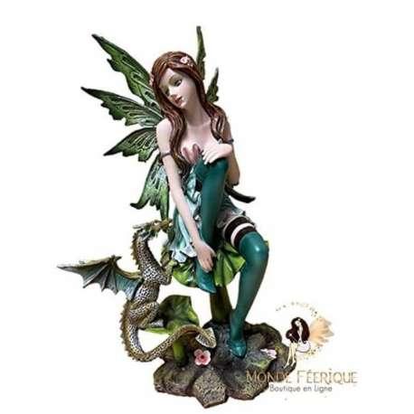 Figurine Fée avec Dragon