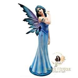 statuette feerique bleu