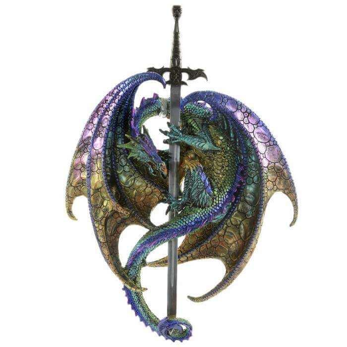 Figurine Dragon Epée des Ténèbres 36cm