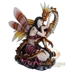 Figurine fée Geante Flamboyante -- 30cm