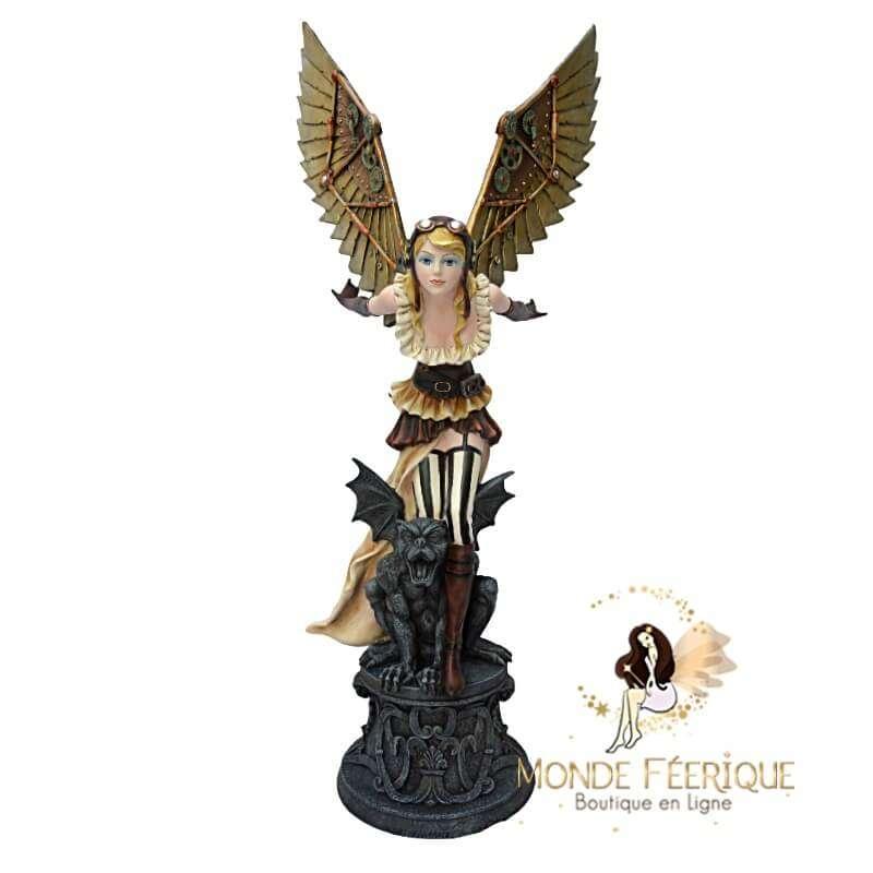 """Statue Fée Géante Steampunk """"Ciel"""" -- 66cm"""