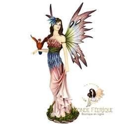 Statuette fee perroquet
