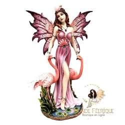 statuette fee flamands rose