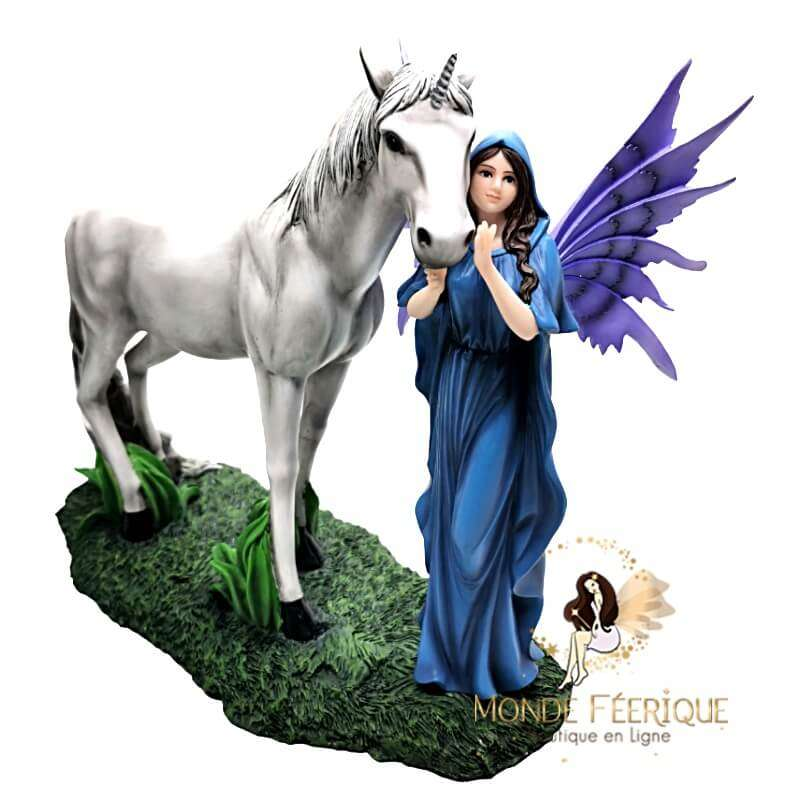Statuette Fée Licorne Ancestra 33cm