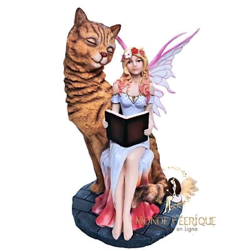 Statuette Fée Chat Tigrou 30cm