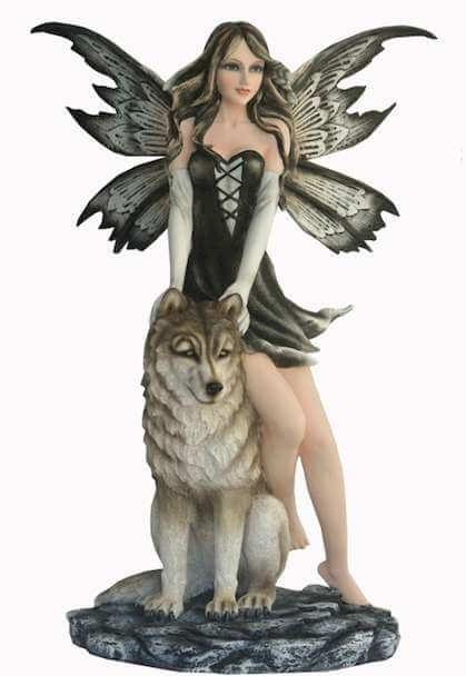 Statue fée Géante des Loups -- 52cm