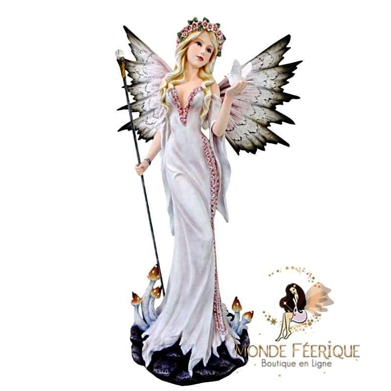 Statuette Fée Papillon White -- 53cm