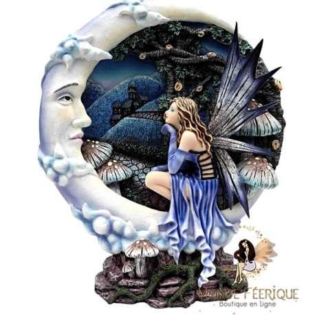 """Scène Féérique """"Clair de lune"""" -- 26cm"""