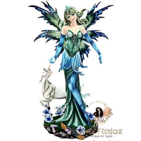 Figurine Elfe Licorne