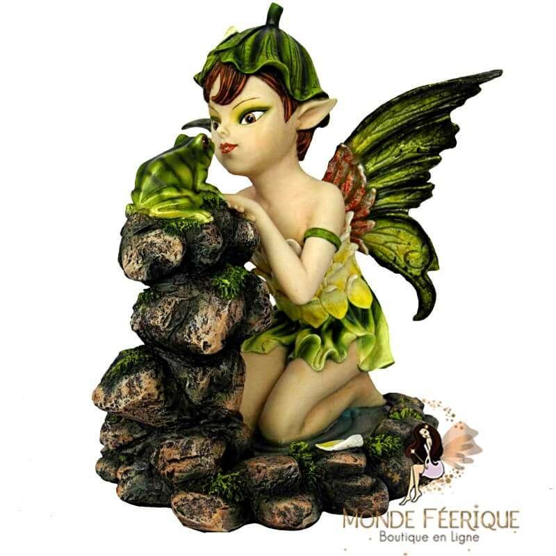 Statuette Elfe Grenouille