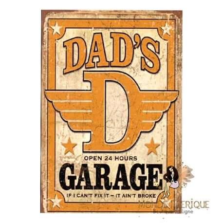 PLAQUE VINTAGE DAD GARAGE
