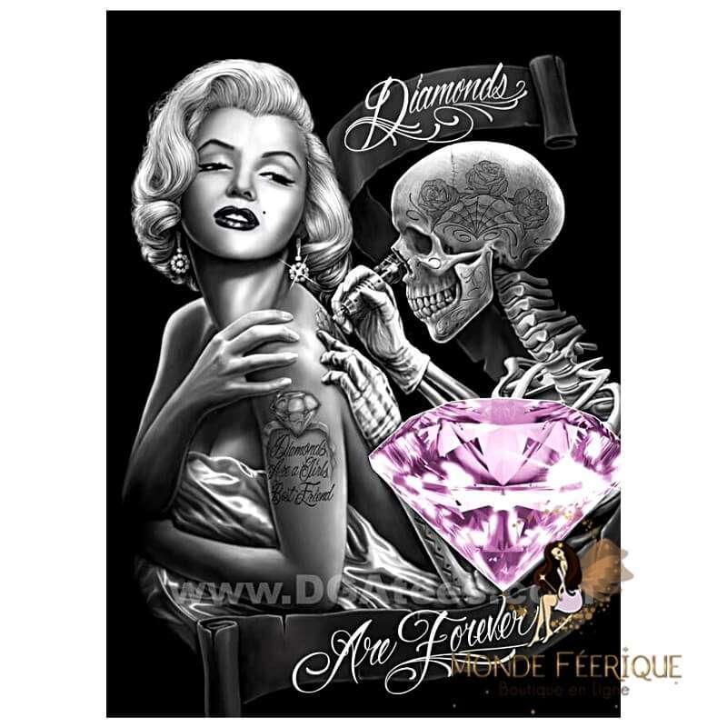 Plaque Vintage Maryline Monroe Diamond-- 20x30cm