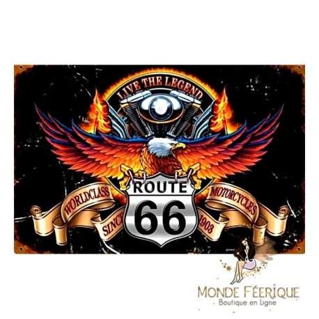 PLAQUE VINTAGE ROUTE 66 WORLD CLASS