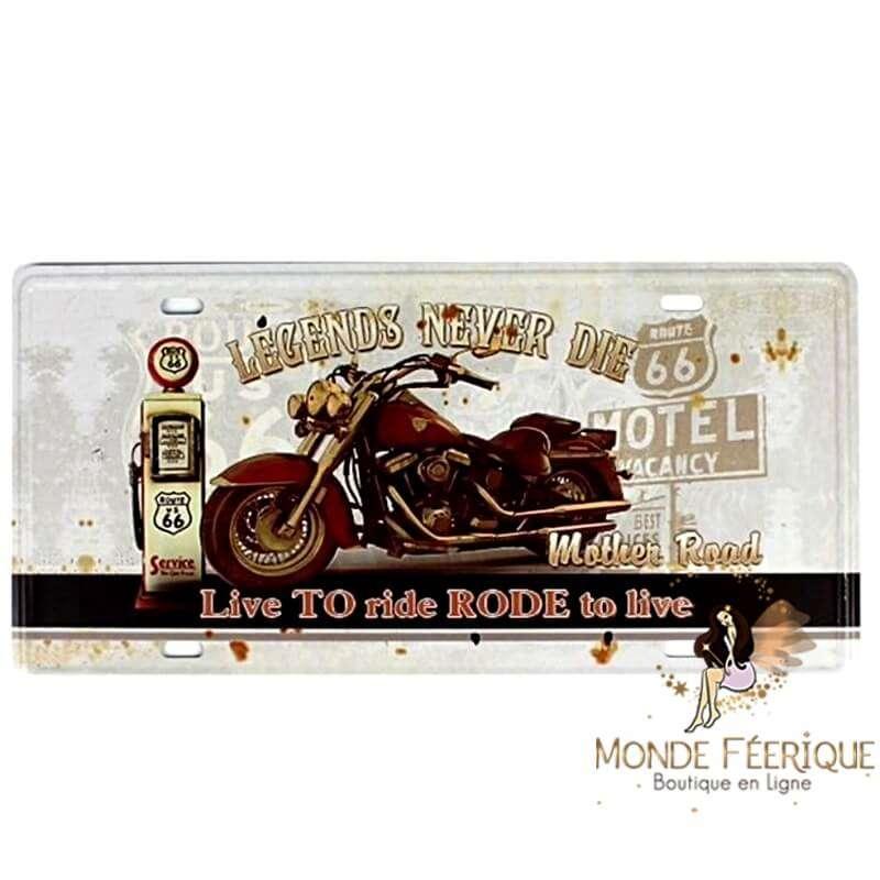 Plaque Vintage INDIAN-- 15x30cm