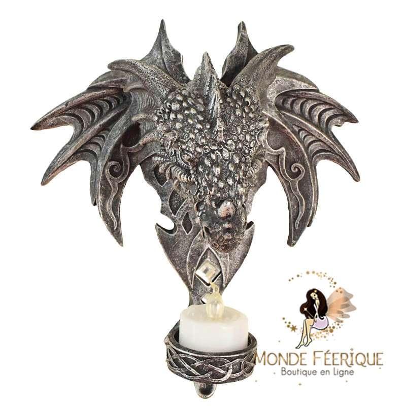 Bougeoir Tête de dragon
