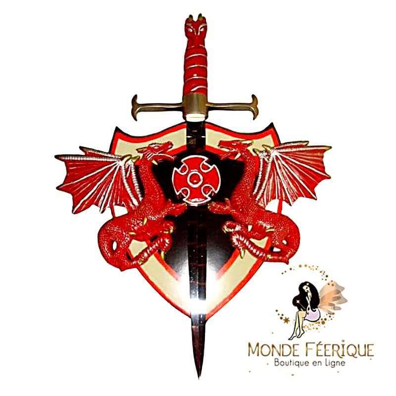 Ecusson Epée avec Deux Dragons