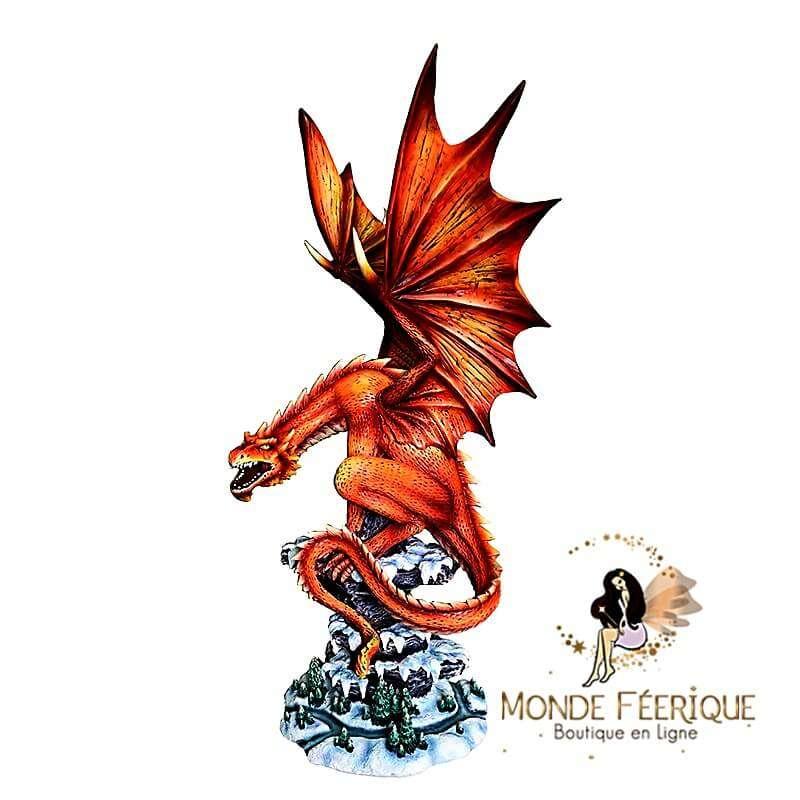 Statuette Dragon Rouge -- 48cm
