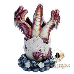 """Figurine Dragon """"Les 3 Dragons Rouges"""""""