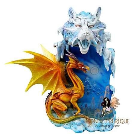 statuette dragon jaune lumineux