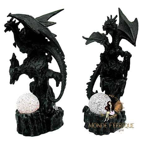 Figurine Dragon Lumineux Legende Dark X2