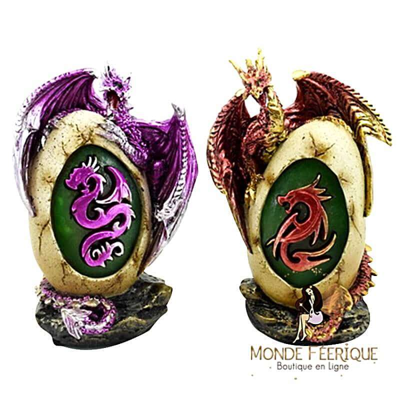 Grands Oeufs Dragons Fantaisie x2