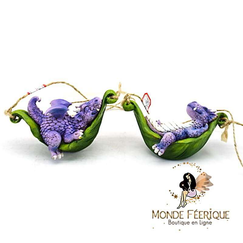 Figurine Dragon Hamac par 2