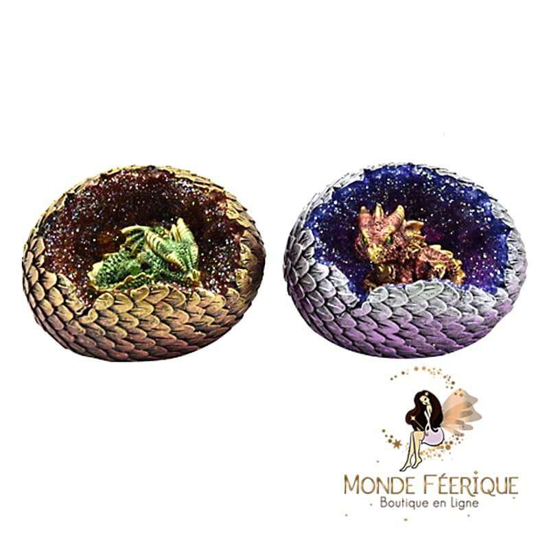 Figurine Dragon couleurs dans oeufs x2