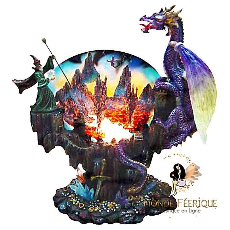 Lampe d'ambiance Dragon Magique - 24,5cm