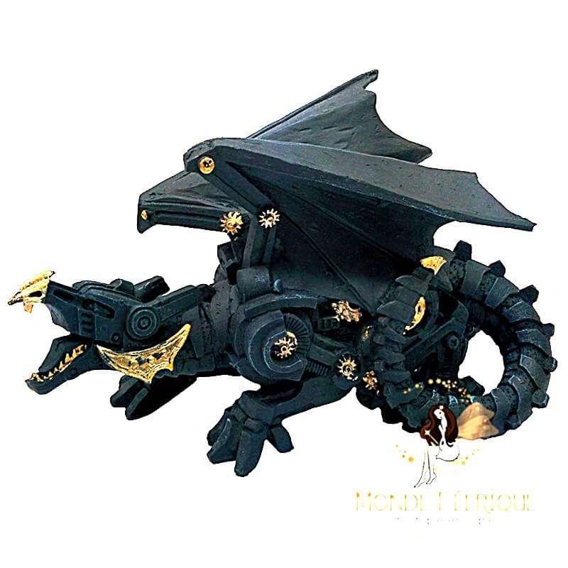 Statuette Dragon Black Gold 28cm