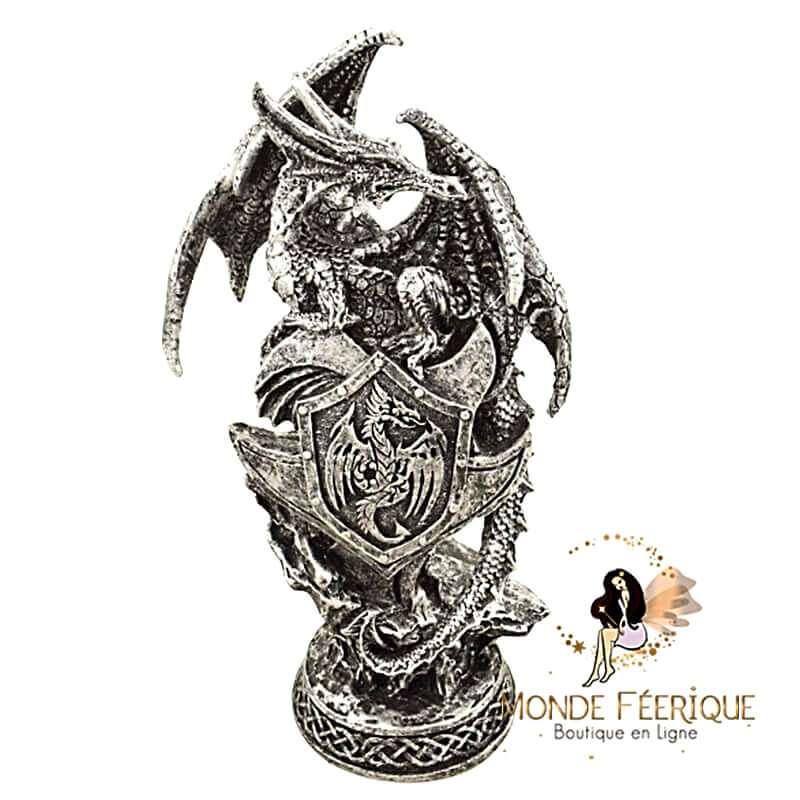 Statuette Dragon Grey 19cm