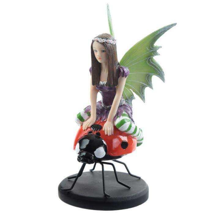 Figurine fée Coccinelle -- 20x13cm