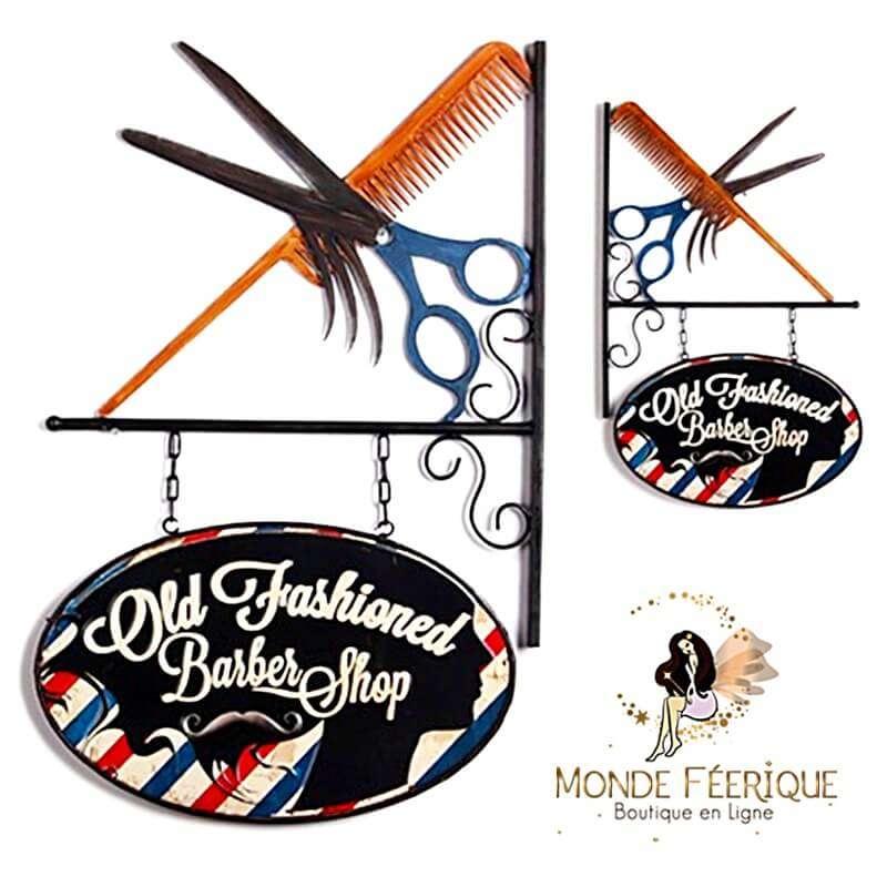 Plaque Vintage Barbier 68cm XL