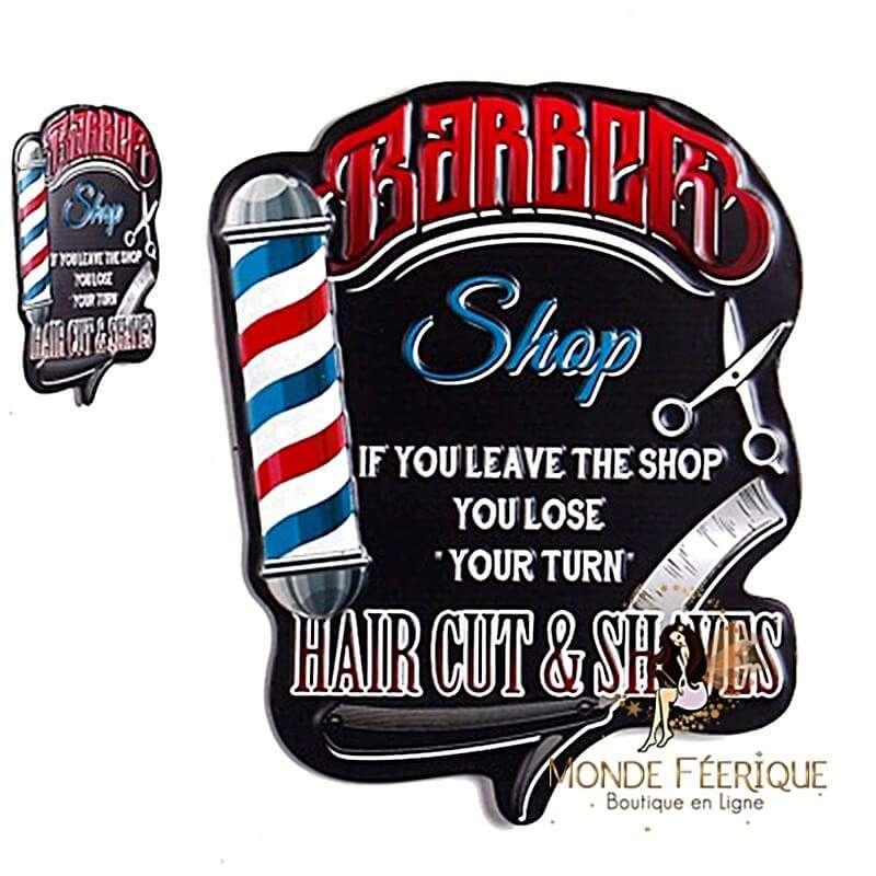 Plaque Vintage Les Barbiers XL