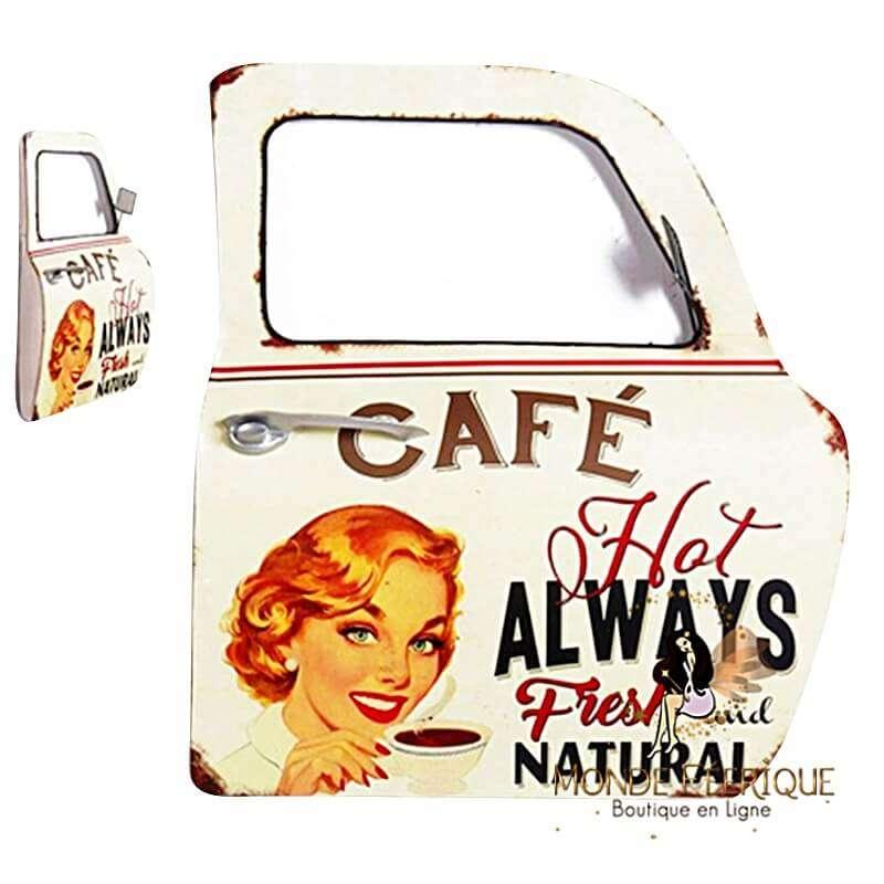 Plaque Vintage Portière Café XL