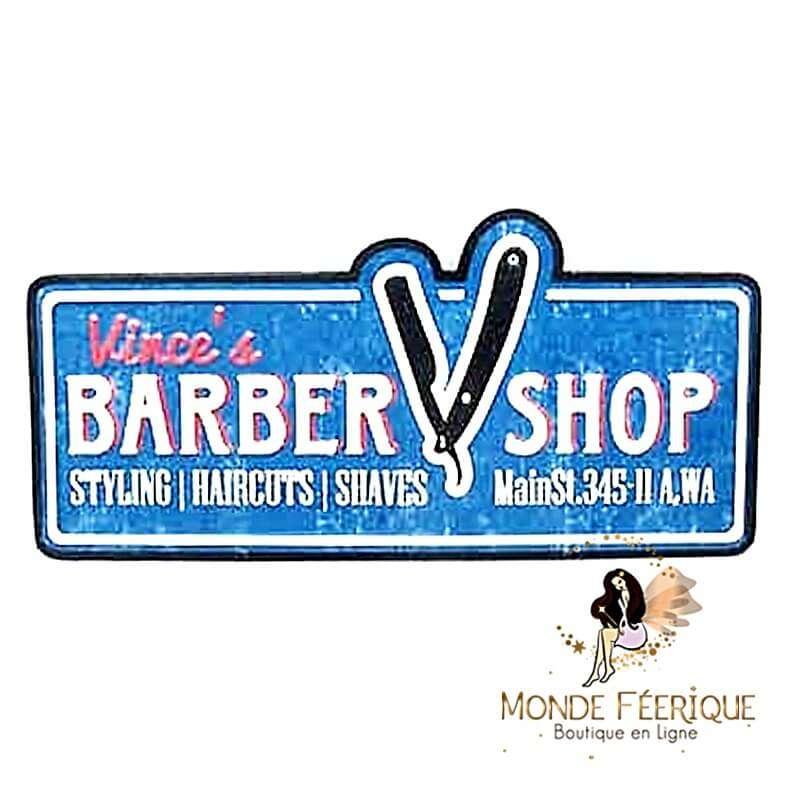 Plaque Vintage Barber Shop XL