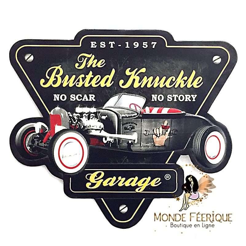 Plaque Vintage ancien Garage 1957 XL LED