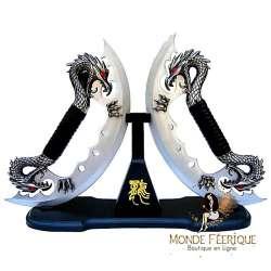 Dague Couteaux Dragons Fantaisie x2