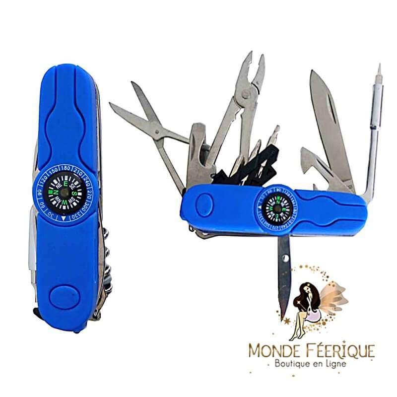 Couteau Suisse Boussole multi fonctions