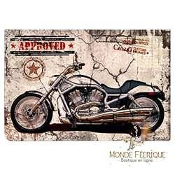 Plaque Metal Déco Bikers