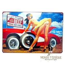 Plaque Décoration Pin Up Pub Vintage -- 20x30cm