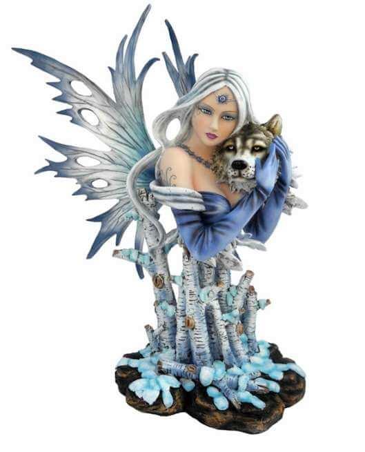 Buste Figurine Fée Imaginaire des Loups -- 39cm