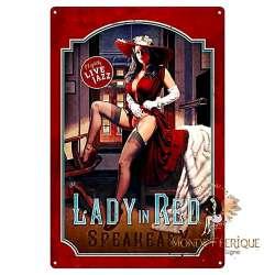 Plaque Metal Déco Lady Jazz