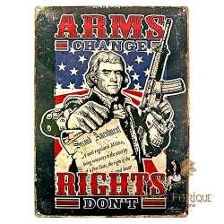 Plaque Déco Mur Vintage constitution Americaine -- 20x30cm