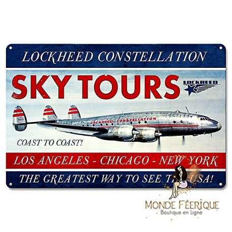 Plaque vintage avion