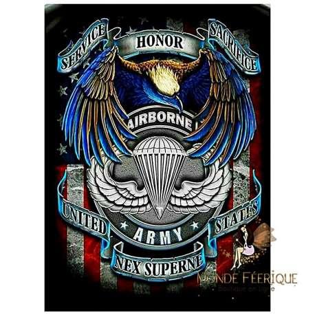 plaque metal armee americaines USA