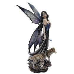 """Statue Fée Géante """"La Reine du Monde"""" -- 65cm"""