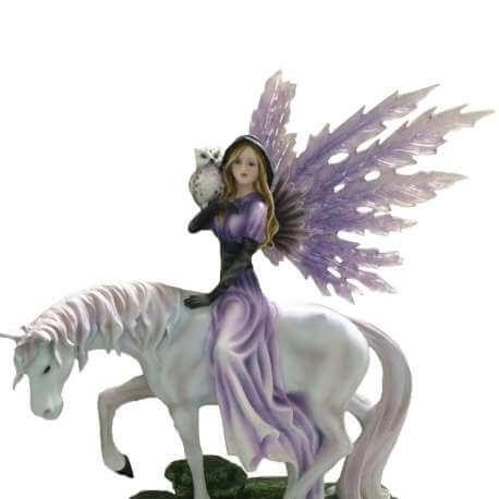 Statue Fée licorne - statues fées licornes