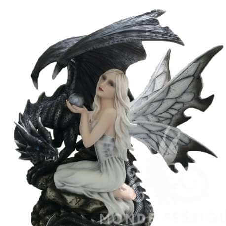 """Grande Figurine Fee """"Ténèbre"""" 36cm"""