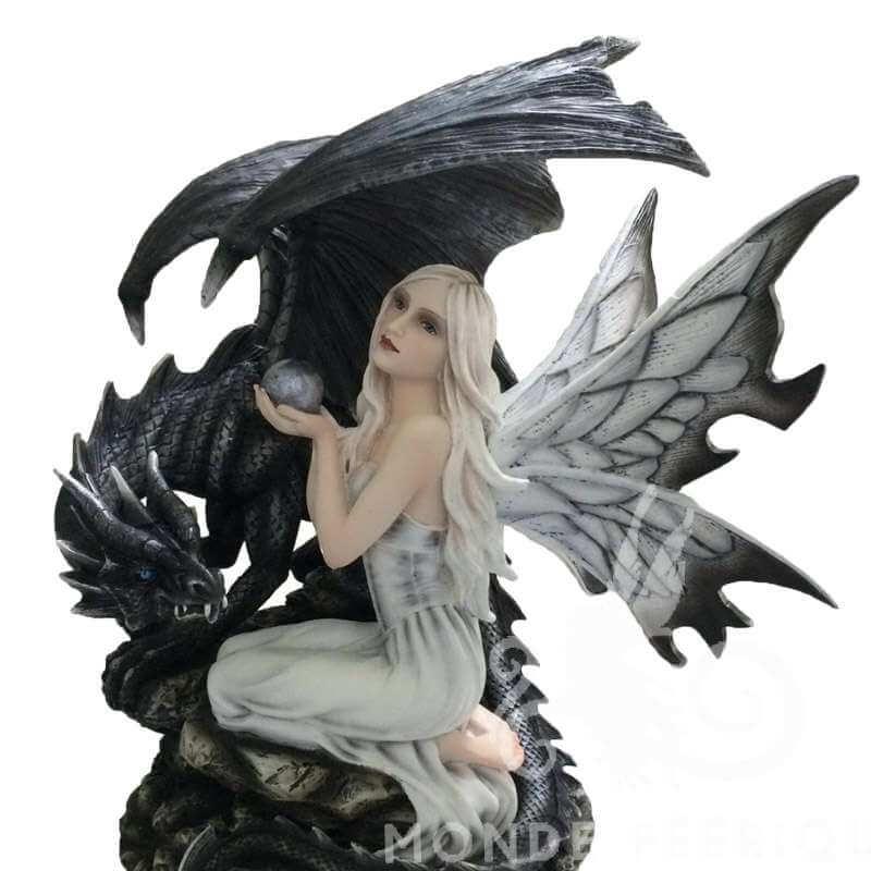 """Grande Figurine Fee """"Ténèbre"""" -- 36cm"""
